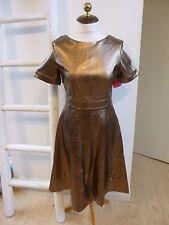 BNWT Little Mistress metallic faux leather skater style dress size 10