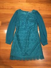 Review Lace Dress Size 10 Green Long Sleeve Good Condition Penny5 For 5% Off