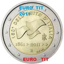 2 €  ITALIE COMMEMORATIVE  2011  1  X PIECE NEUVE  UNITE  ITALIENNE   disponible