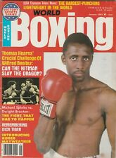 WORLD BOXING MAGAZINE THOMAS HEARNS BOXING HOFer  COVER JANUARY 1983