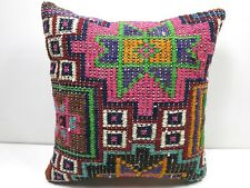 """Anatolia Kilim Pillow Cover Sofa Decor Pillow 16""""x16"""" Boho Cushion Throw Pillows"""