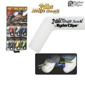 Motorcycle Rubber Shift Sock Shift Cover Boot Shoe WHITE Protector Hayabusa ZX14