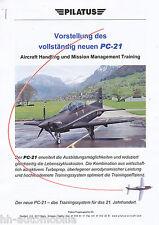Pilatus PC-21 Flugzeug-Vorstellung, Unternehmensinformation von 2000