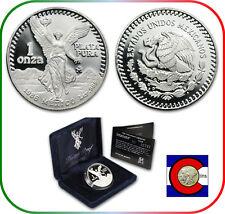 1986 1 oz Silver Mexico Libertad Proof - w/Box & CoA