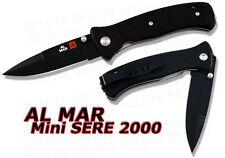 Al Mar Mini SERE 2000 BLACK Folder Plain Edge MS2KB NEW