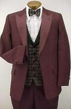 Vintage 4pc Dark Burgundy Prom Tuxedo Beetlejuice 37R