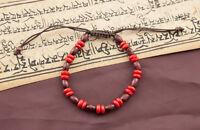 Mala Tibetano Braccialetto Perle Piatte IN Legno Ø 7 MM 4132 CA13