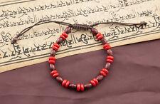Mala tibetain bracelet perles plates en bois   Ø 7 mm 4132 CA13