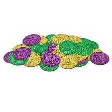 Mardi Gras Plastic Coins 100 Pc (B50857-GGP)