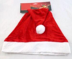 1pc Christmas Party Adult Santa Hat Red And White Xmas Santa Claus