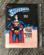 1978 OPC/O-Pee-Chee - Superman: The Movie - Unopened Vintage Wax Pack FREE SHIP