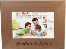 Brother & Sister 4-inch x 6-Inch Wood Picture Frame