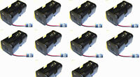C1202-5 Receiver Battery Pack Case Box 4 x AA Nitro RC Compatible JR 3 Pin x 10