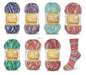 700gr. Flotte Socke 4f. Frische Brise Rellana Strumpfwolle 7 Farben 100gr/5€