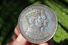 German States Prussia Coronation Silver medal, 1861