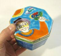"GIOVANNI DESIMONE Mid Century Italian Art Pottery 4.25"" Jewelry Trinket Box MCM"