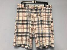 Nautica Bermuda Shorts Men's Plaid Checks Casual Sz 34W 100% Cotton