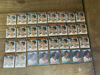 (32) Will Clark Topps Donruss Baseball Cards Rookie Lot San Francisco Giants