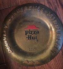 Vintage Pizza Hut Restaurant Delivery Conference  Plate Middle East 1990