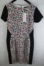 Ladies Sugarhill Boutique Leopard Spot Dress Black/mult UK Size 10 No 1