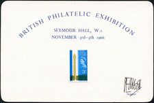 1965 Post Office Tower Signed Clive Abbott Designer on Bpe 1966 Exhibition Card