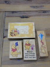 Winnie the Pooh Bear Rubber Stamp Lot Frame Best Friends Classic Kite Stampede