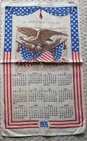 1976 Calendar Linen Towel Declaration of Independence Bicentennial