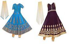 Girls' Deluxe Designer Indian Party Anarkali Salwaar Kameez Dress Clothing