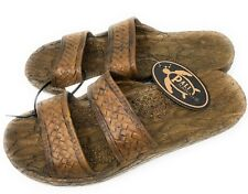 Pali Hawaii Unisex Hawaiian Jesus Sandals Brown Slip On Waterproof Choose Size
