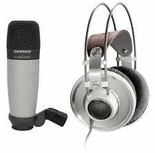 AKG K701 Open-Back Studio Reference Monitor Headphones+Samson Recording Mic