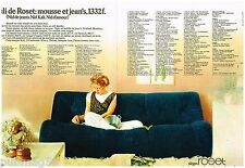Publicité Advertising 1973 (2 pages) Le canapé Ligne Roset