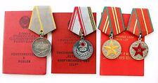 Soviet SILVER Medal Combat Service Veteran 25 Y Excellent Service in Army + Doc