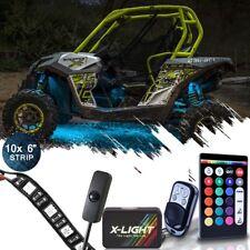 10strips LED Neon Glow Lighting Kit For Polaris General ATV Four Wheelers 4x4