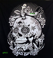 Tapa de la cabeza del cráneo Mandala colgante de la reina de la pared piratas de