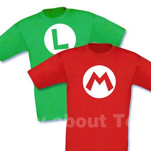 Mario and Luigi T SHIRT kids tee nintendo MARIO BROTHERS