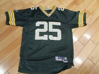 Youth Large L Reebok Vintage NFL Green Bay Packers #25 Ryan Grant Jersey