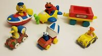 80's Metal Sesame Street Vehicle Hasbro + Tyco Big Bird Boat Elmo Plane Lot