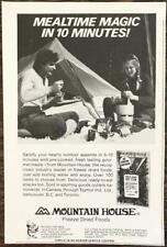 1976 Mountain House Freeze Dried Foods Print Ad Mealtime Magic in 10 Minutes