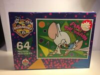 Vintage 1996 Pinky And The Brain Animaniacs 64 Piece Puzzle Seald