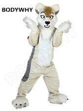 Luxury Long Fur Husky Dog Fursuit Mascot Costume Wolf Dog Fox Cosplay Party