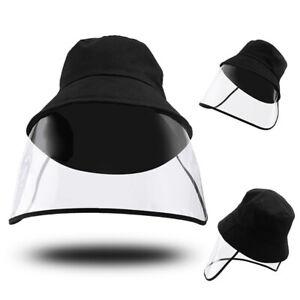Unisex Anti-saliva Protective Fisherman Hat Cap Face Shield Transparent Cover