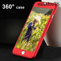 Ultra Thin Slim Hard Cover+Tempered Glass For Apple iPhone 6 6s 7 Plus 360° Case