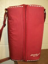 Red, Eddie Bauer, Carry Along or Picnic Wine Pouch (T=7)