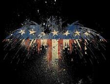 "TIN SIGN ""US Eagle Flag"" Patriotic Garage Wall Decor"