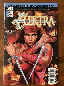 Elektra #3 (vol. 3) 1st Print UNCENSORED NUDE BENDIS Marvel VF/NM KEY RECALLED