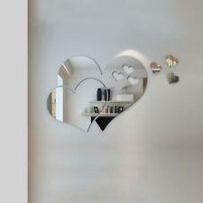 3D Mirror Love Heart Wall Sticker Removable Decal DIY Home Living Room Art Decor