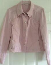 CATHERINA HELFER Pink Short Cotton BOMBER JACKET  UK14