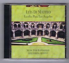 LUIS DI MATTEO CD ESCRIBO PARA LOS ANGELES / MUSIC BANDONEON & STRING QUINTET