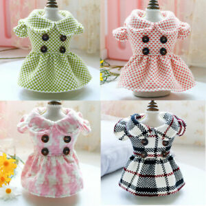 Cute Small Pet Dog Dress Clothes Doll Collar Skirt Puppy Cat Dress Wedding Party