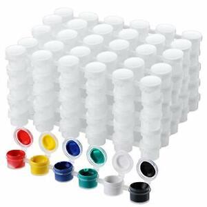 50 Strips Empty Paint Strips Paint Cup Pots Clear Storage Paint Containers.